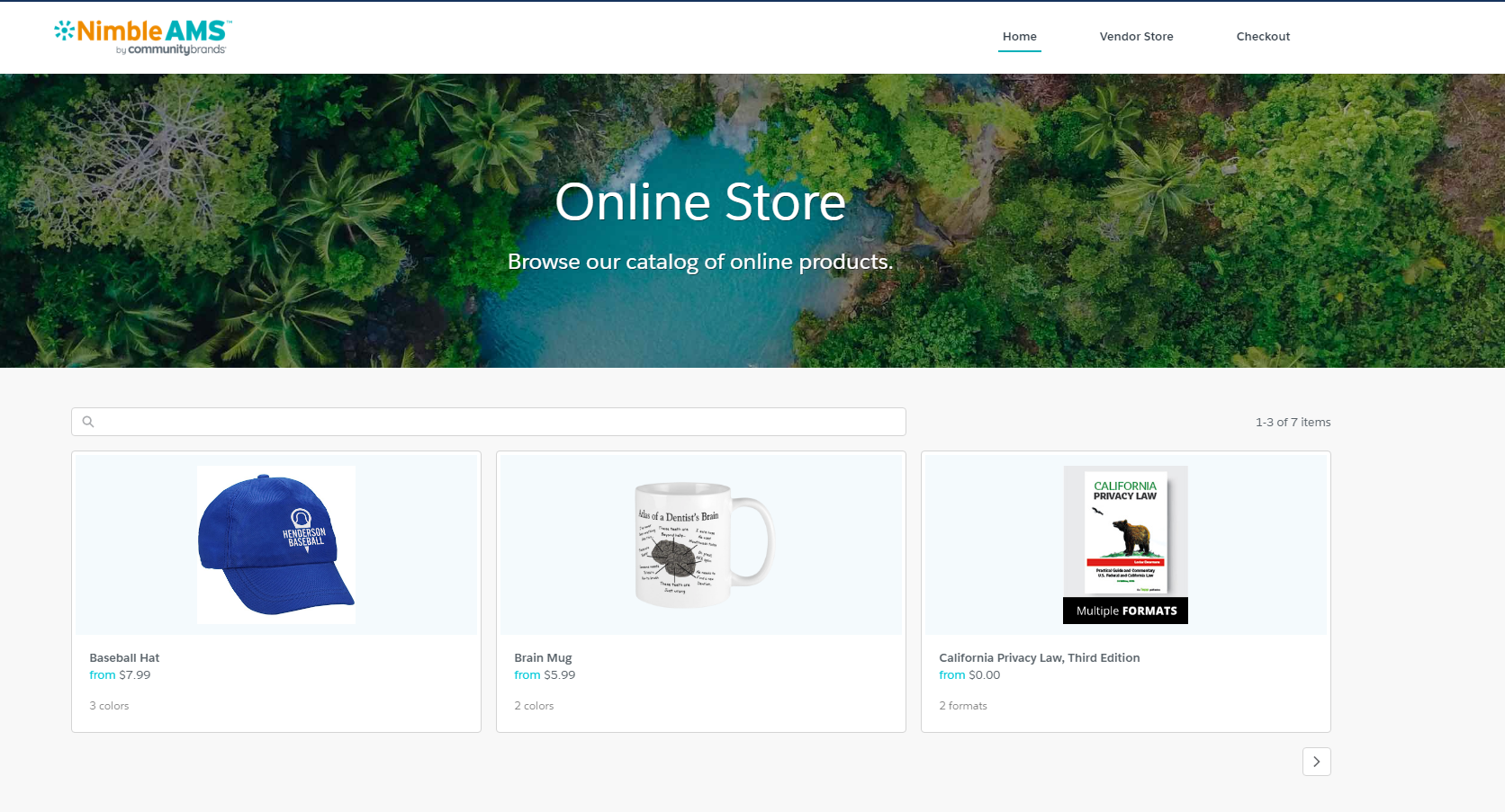 Visual of Online Store
